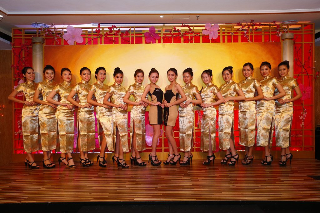 14. Our beautiful Guinness girls in their gold cheongsam