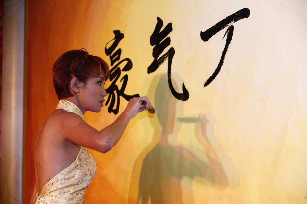 4. Haze Leong who opened the evening with a caligraphy