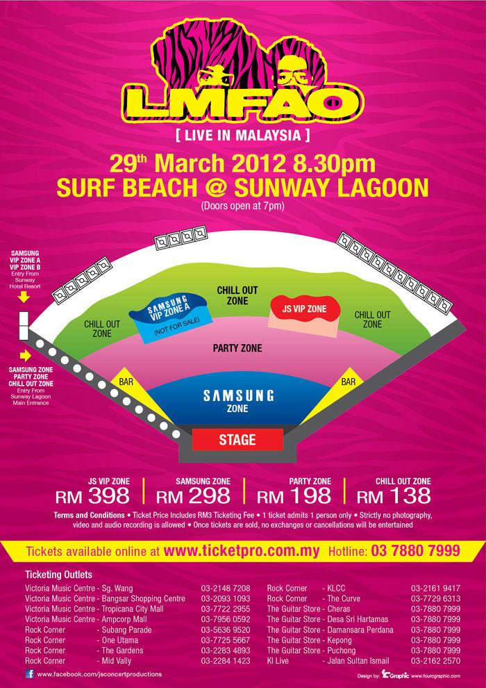 eventsnonstop.blogspot.com LMFAO Live in Malaysia 2012 floor plan